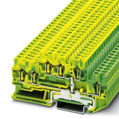 Schutzleiter-Doppelstockklemme STTB 2,5-TWIN-PE