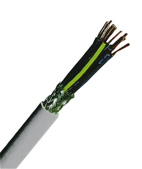 YSLCY-OZ 4x0,5 PVC-Steuerleitung geschirmt, grau