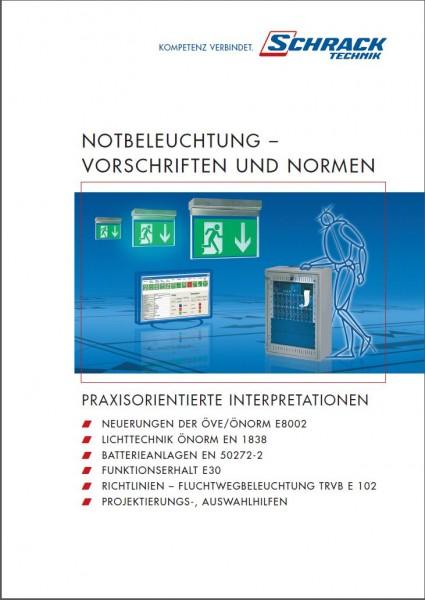 Folder Vorschriften und Normen für Notbeleuchtung
