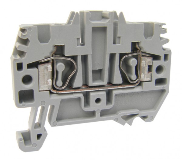 Federkraftklemme HMM.2 grau, 2,5mm²