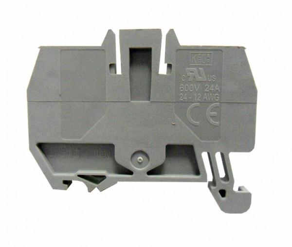 Endplatte für Federkraftklemme HMM 2,5mm², grau