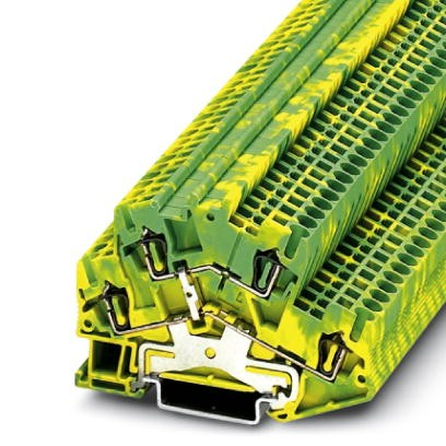 Schutzleiter-Doppelstockklemme STTBS 2,5-PE