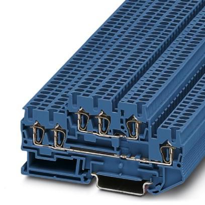 Doppelstock-Zugfederklemme STTB 2,5-TWIN BU