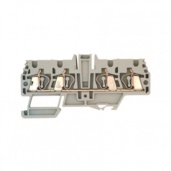 Doppel-Federkraftklemme HMM.2/2+2 grau, 2,5mm²