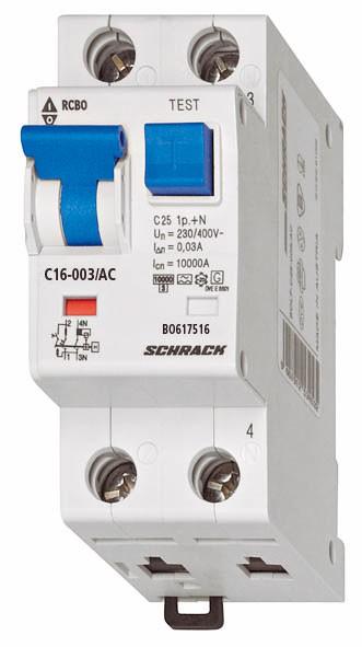 LS-FI-Schalter, Kennlinie C, 20A, 30mA, 1-polig+N, Typ AC