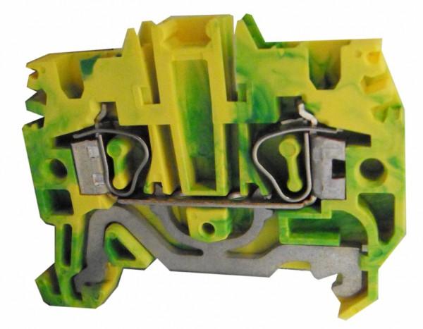 Federkraftklemme HTE.2 grün-gelb, 2,5mm²