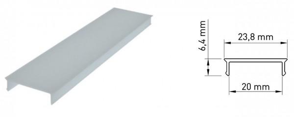 Kunststoffabdeckung TB flach opal - 2m
