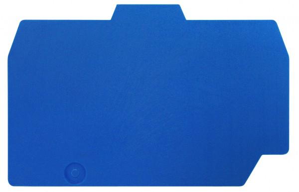 Endplatte für Federkraftklemme HTE 6mm², grün-gelb