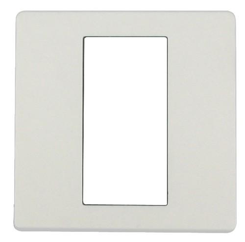 ekey Dekorblende für Fingerscanner UP E, reinweiß 50x50mm