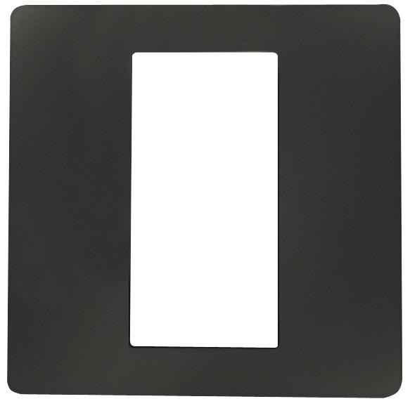 ekey Dekorblende für Fingerscanner UP E, anthrazit 50x50mm