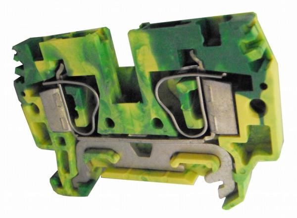 Federkraftklemme HTE.6 grün-gelb, 6mm²