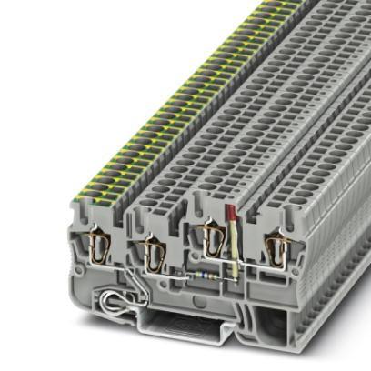 Installationsschutzleiterklemme STIO 2,5/3-PE/B/L-LA24GN/O-M
