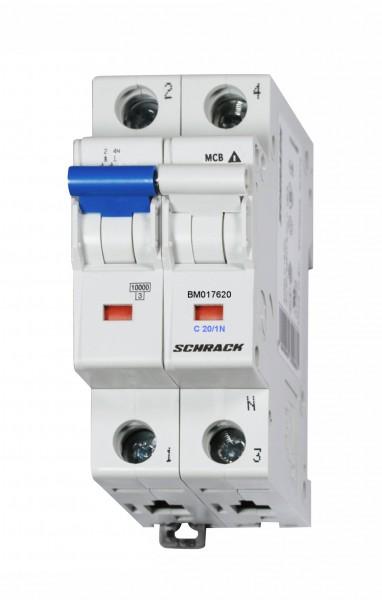 Sicherungsautomat, Kennlinie C, 20A, 1-polig+N, 10kA