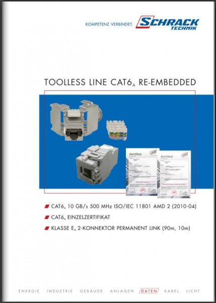 Folder Toolless Line Cat6a Re-embedded