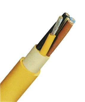 NSSHöu-J 4x16 gelb, Gummischlauchleitung verzinnt