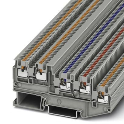 Initiatoren-/Aktorenklemme PTIO 1,5/S/4-LED 24 GN