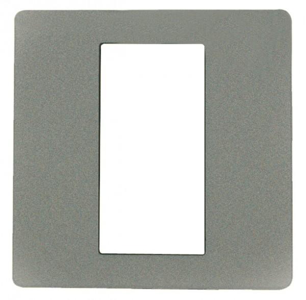 ekey Dekorblende für Fingerscanner UP E, aluminium 50x50mm