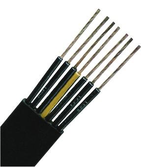 H07VVH6-F 7G2,5 schwarz, PVC Flachleitung feindrähtig