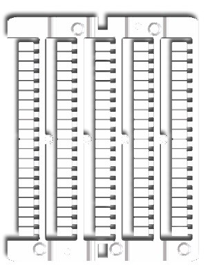 Kennzeichnungsschildchen 100x weiß