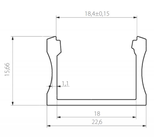 Profil 22.6 x 15mm
