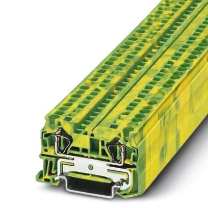 Zugfeder-Schutzleiterklemme ST 4-PE