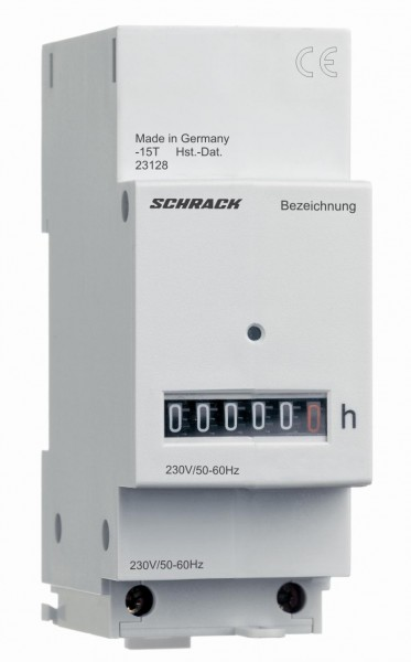 Betriebsstundenzähler 24VAC mit Klemmenabdeckung