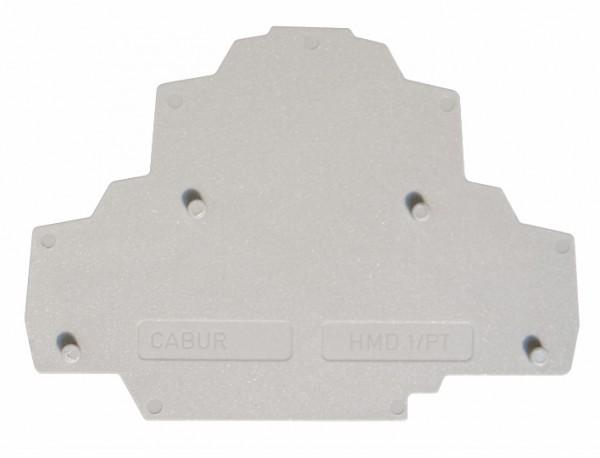 Endplatte grau für Federkraft-Doppelstockklemme HMD.2N