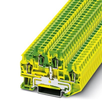 Schutzleiter-Doppelstockklemme STTB 2,5-PE