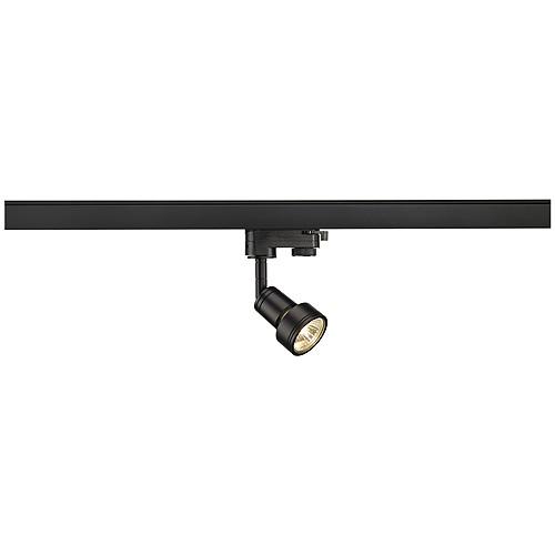PURI Lampenkopf, schwarz, GU10 , max. 50W, inkl. 3P.-Adapter