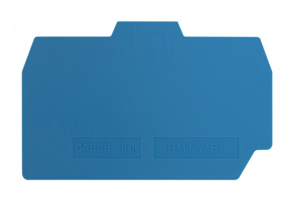 Endplatte für Federkraftklemme HMM 4mm², blau