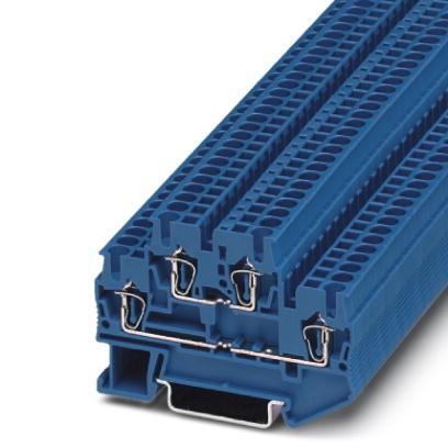 Doppelstock-Zugfederklemme STTB 2,5 BU