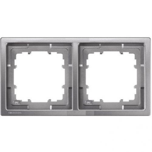 Rahmen, Style, platinmetallic, 2-fach