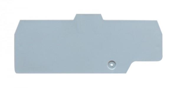 Endplatte grau für Doppel-Federkraftklemme HMM.2/2+2