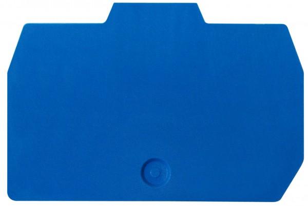 Endplatte für Federkraftklemme HMM 2,5mm², blau