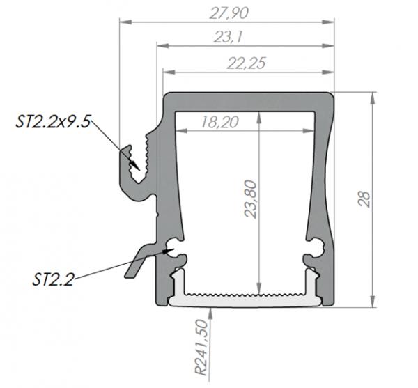 Profil 27.9 x 28mm