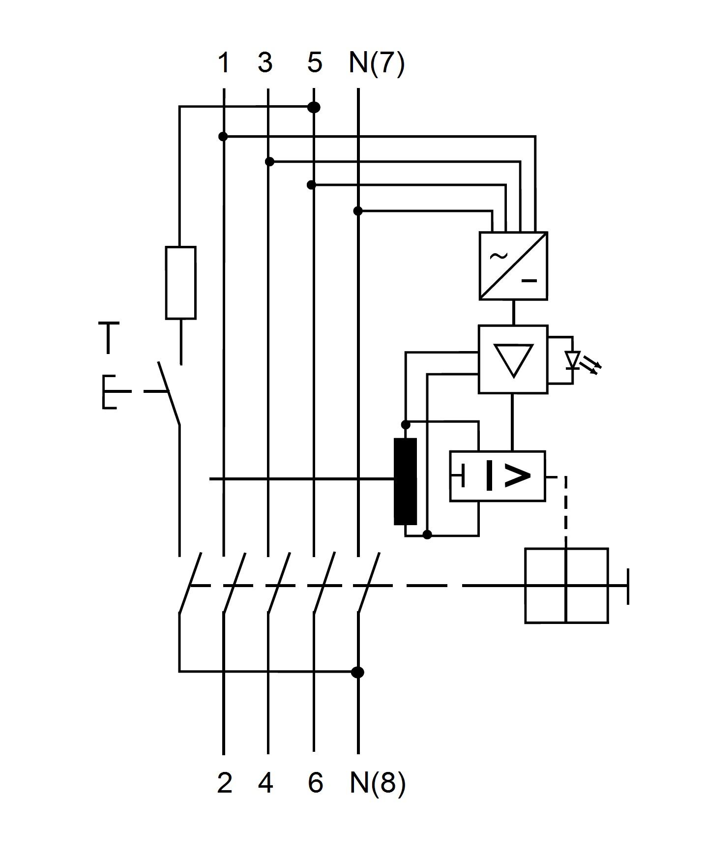 allstromsensitiver fi schalter 63a 4 polig 30ma typ b fq. Black Bedroom Furniture Sets. Home Design Ideas