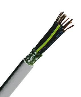 YSLCY-JZ 3x0,5 PVC-Steuerleitung geschirmt, grau
