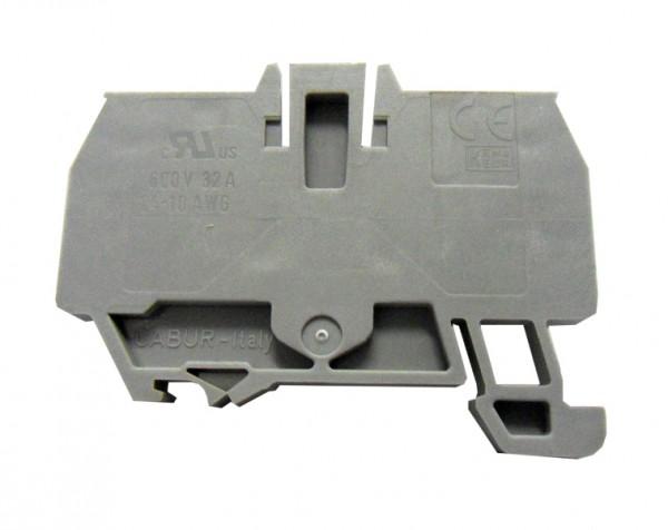 Endplatte für Federkraftklemme HMM 6mm², grau