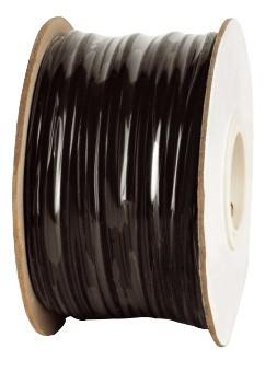 Modularflachleitung 4-polig schwarz für Telefon-Patchkabel