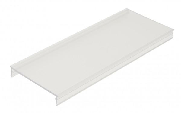 PMMA Abd. SL flach, transparent, L-2000mm B-58,6mm H-10,7mm