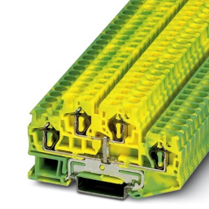 Schutzleiter-Doppelstockklemme STTB 4-PE